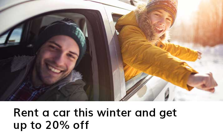 Rent a car this winter and get up to 20% off