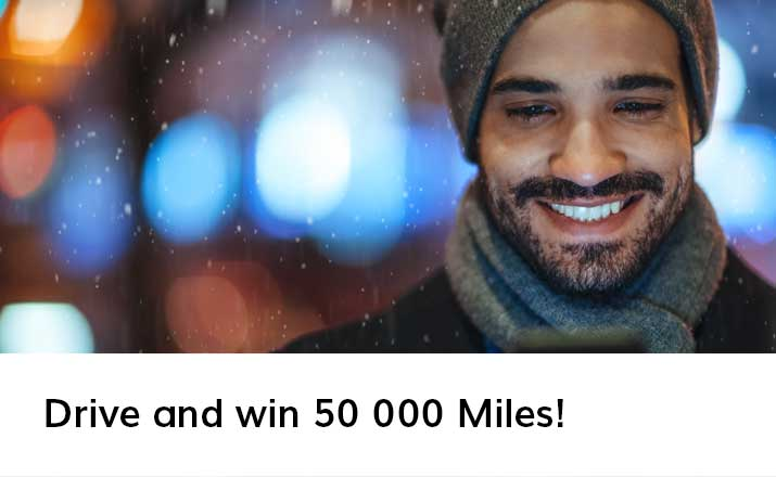 Drive and win 50 000 Miles!